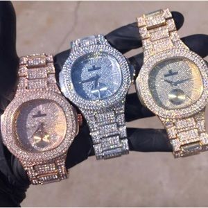 Men's full iced out luxury stylish statement watch